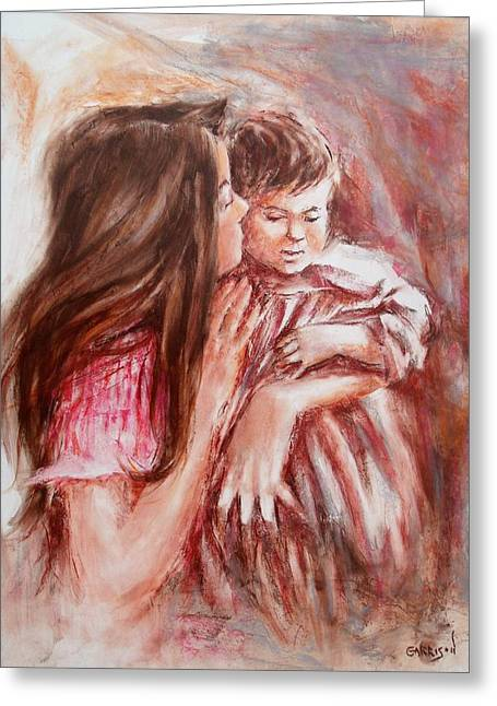 Sister's Loving Care Greeting Card by David Garrison
