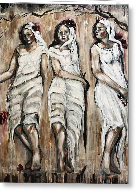 Sisters Of Mercy Greeting Card by Carrie Joy Byrnes