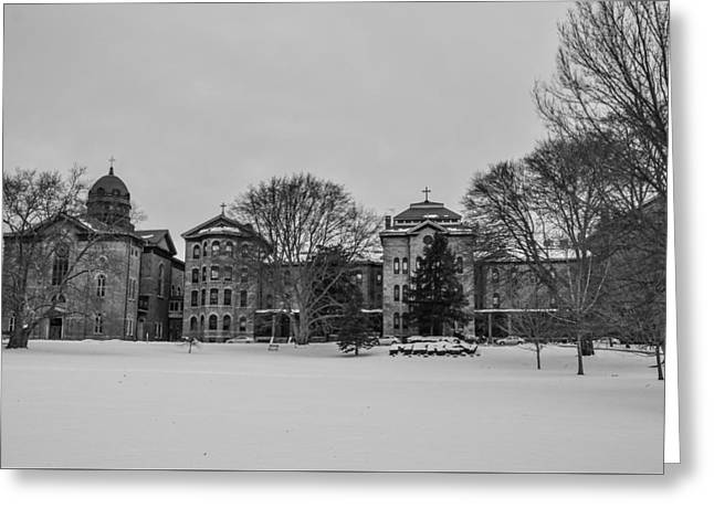 Sisters Of Mercy Convent And Schools Merion Greeting Card by Bill Cannon