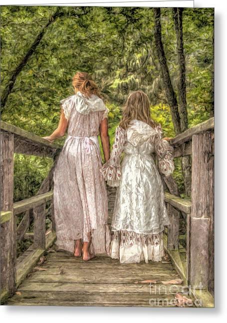 Sisters Greeting Card by Randy Steele