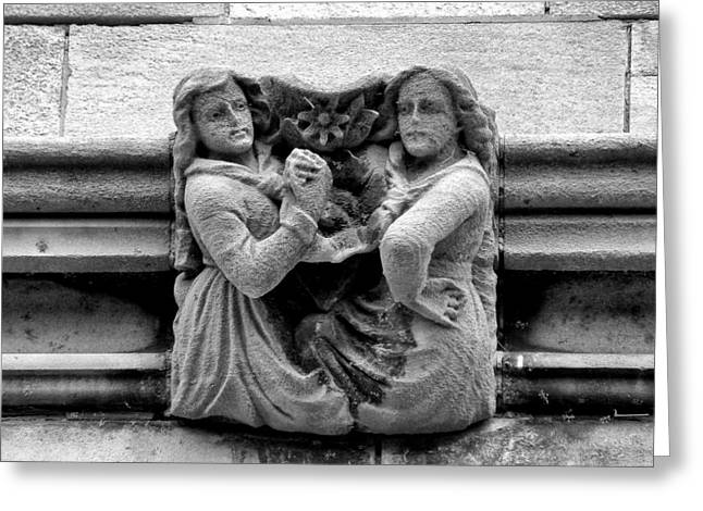 Sisters With A Cause Gargoyle Univ Of Chicago 2009 Greeting Card