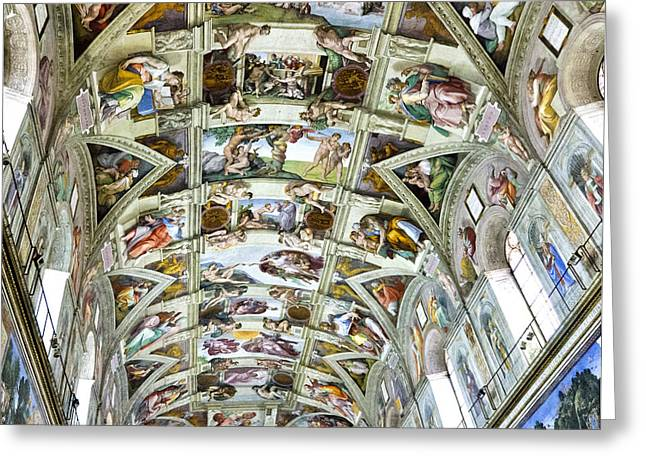 Sistine Chapel Greeting Card by Jon Berghoff