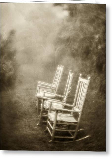 Sit A Spell-sepia Greeting Card