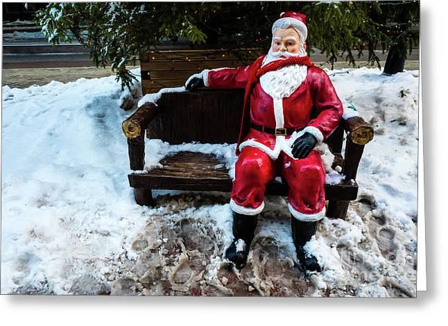 Sit With Santa Greeting Card
