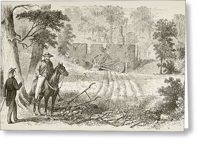 Site Of The Battle Of Gaines  Mill Greeting Card by Vintage Design Pics
