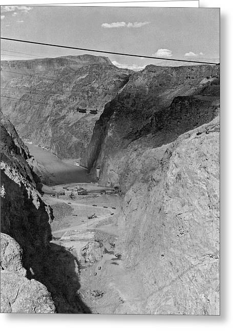 Site Of The Future Boulder Dam Greeting Card by Underwood Archives