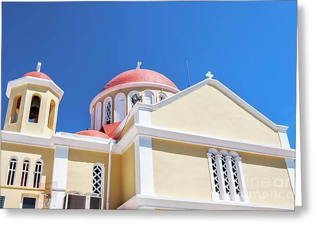Sitia Church Greeting Card by Antony McAulay