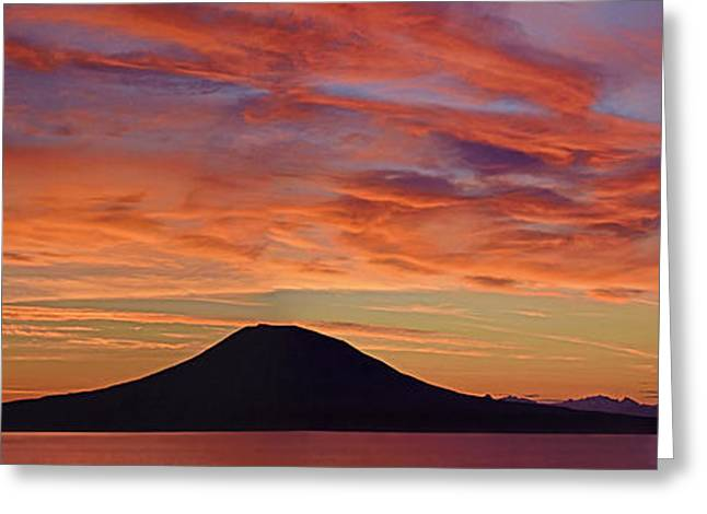 Sitka Sunrise Greeting Card by Jim Chamberlain