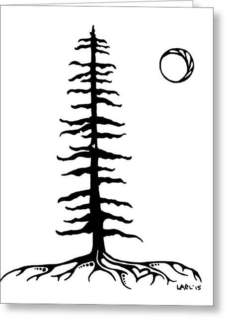 Sitka Tree Greeting Card by Lael Johnson