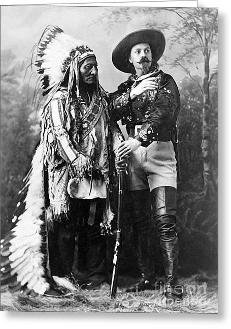 Sitting Bull And Buffalo Bill, 1885 Greeting Card