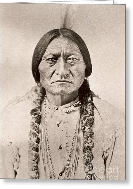 Sitting Bull  Greeting Card by David Frances Barry