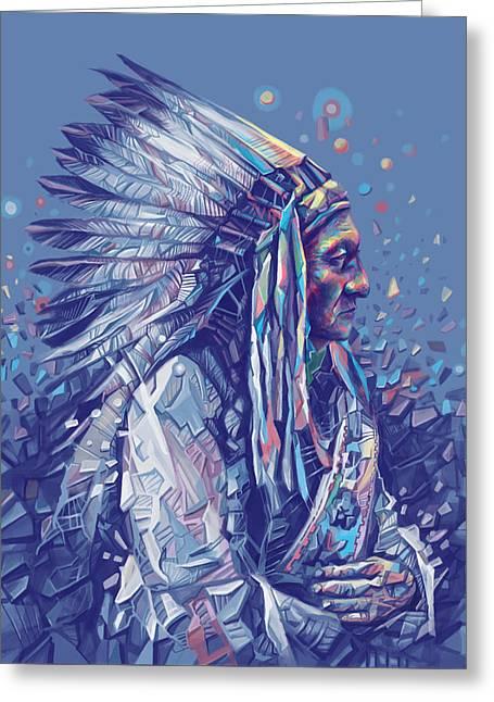 Sitting Bull Decorative Portrait Greeting Card