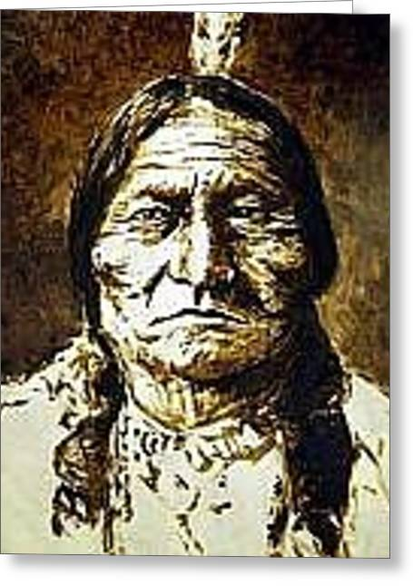 Sitting Bull Greeting Card by Kevin Heaney