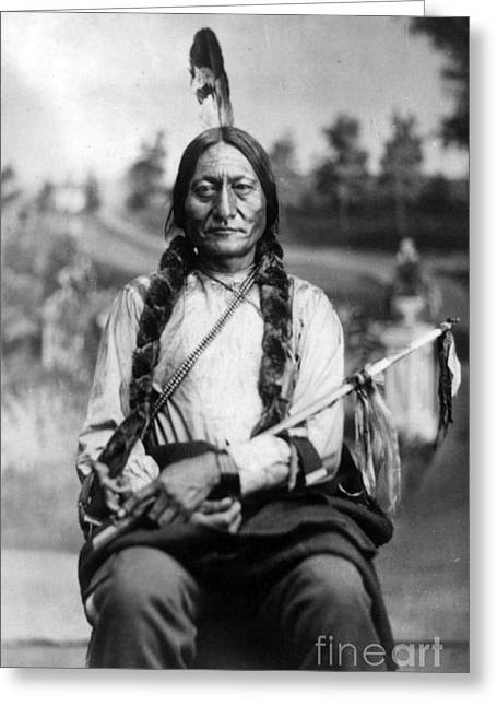 Sitting Bull, Lakota Tribal Chief Greeting Card