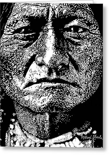 Sitting Bull Greeting Card by Max Eberle