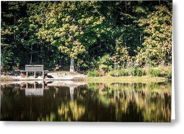 Sitting By The Lake On A Quiet Fall Morning Greeting Card by Robert Anastasi
