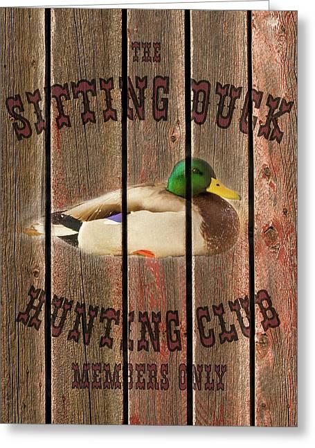 Sitting Duck Hunting Club Greeting Card