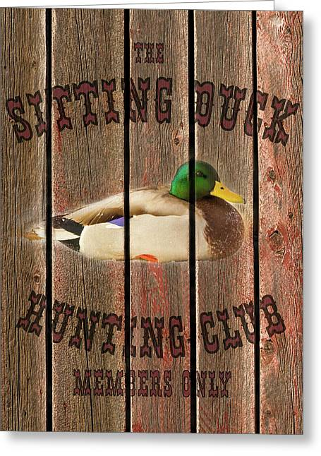 Sitting Duck Hunting Club Greeting Card