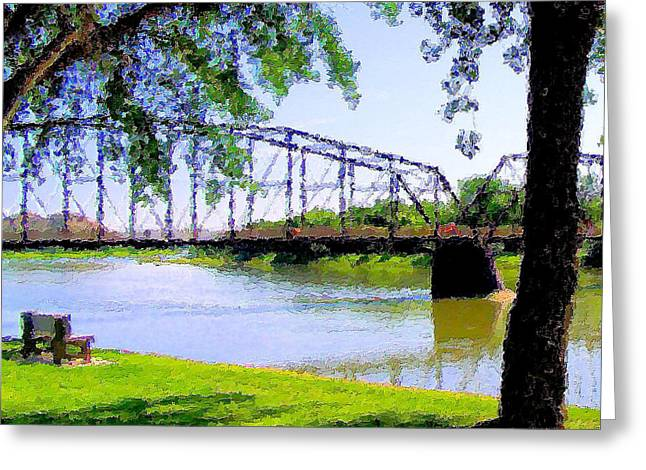 Greeting Card featuring the photograph Sitting In Fort Benton by Susan Kinney