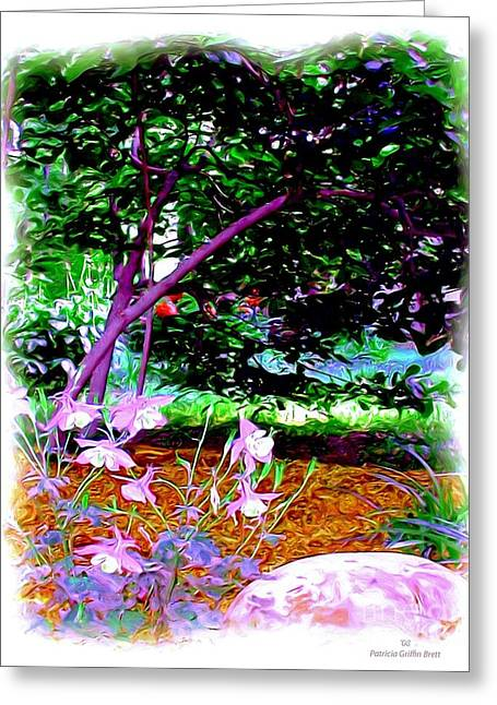 Greeting Card featuring the painting Sitting In The Shade by Patricia Griffin Brett