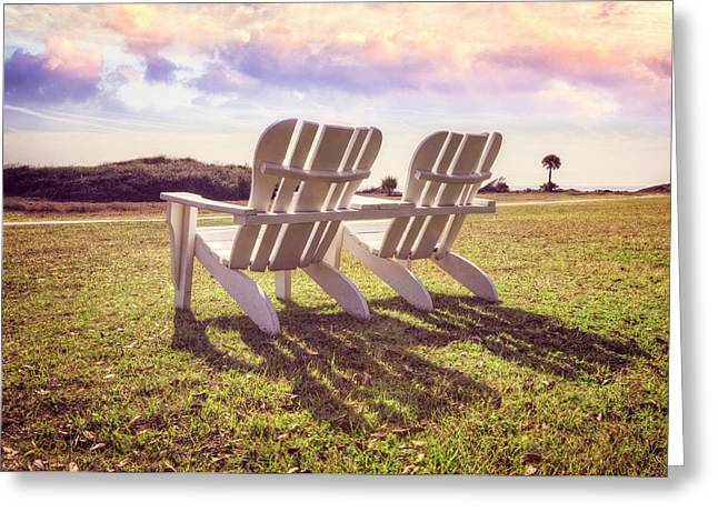 Greeting Card featuring the photograph Sitting In The Sun by Debra and Dave Vanderlaan