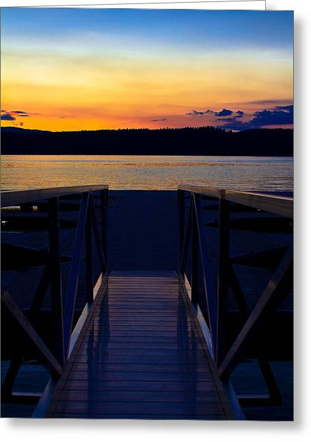 Sitting On The Dock Of A Bay Greeting Card
