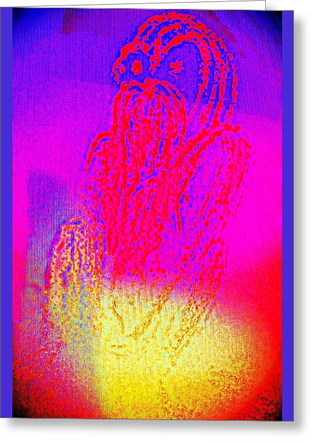 Sitting On The Light Spot Feeling Blue  Greeting Card