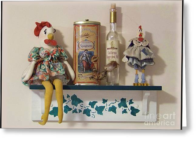 Sitting On The Shelf Greeting Card by Charles Robinson