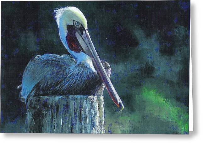Sitting On The St Marks Greeting Card by Pam Talley