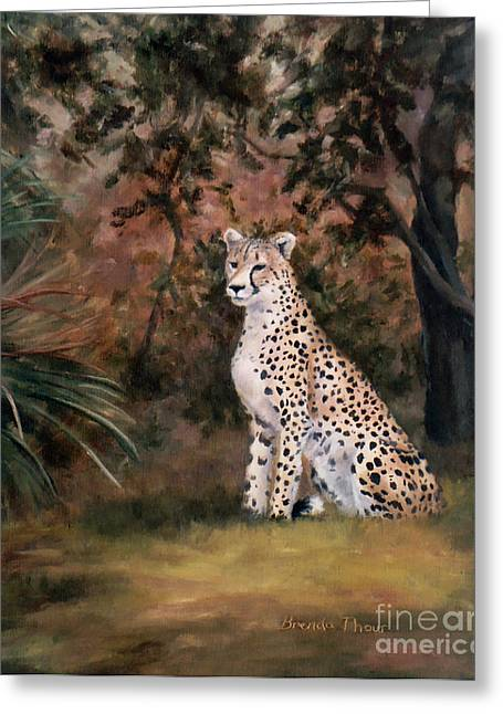 Greeting Card featuring the painting Sitting Proud by Brenda Thour