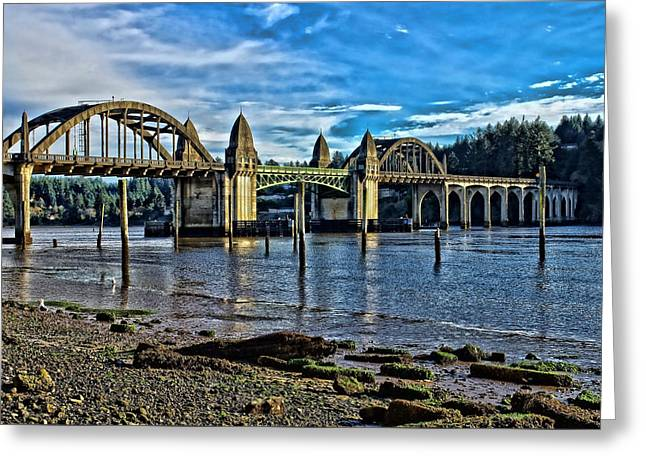 Siuslaw River Bridge Greeting Card