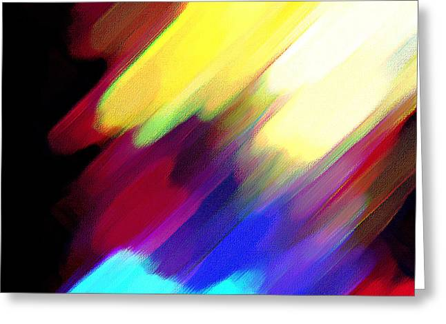 Greeting Card featuring the painting Sivilia 1 Abstract by Donna Corless