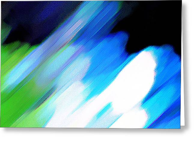Greeting Card featuring the painting Sivilia 10 Abstract by Donna Corless