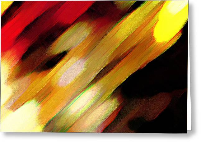 Greeting Card featuring the painting Sivilia 11 Abstract by Donna Corless