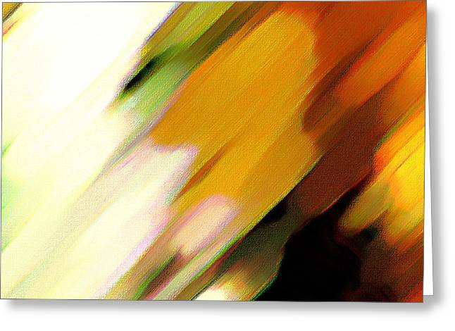Greeting Card featuring the painting Sivilia 2 Abstract by Donna Corless