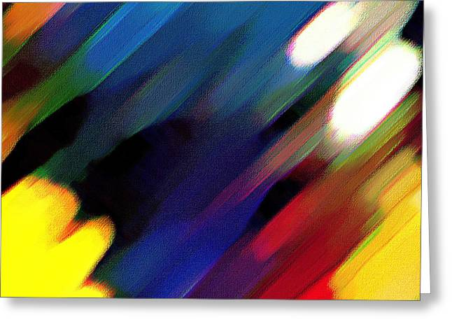Greeting Card featuring the painting Sivilia 4 Abstract by Donna Corless