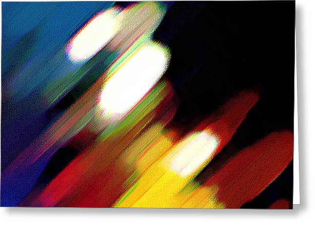 Greeting Card featuring the painting Sivilia 5 Abstract by Donna Corless