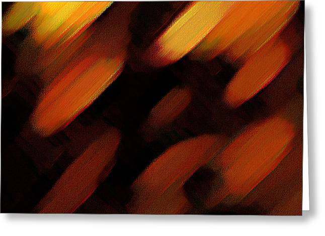 Greeting Card featuring the painting Sivilia 7 Abstract by Donna Corless