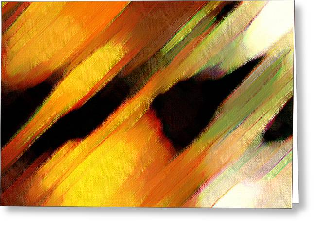 Greeting Card featuring the painting Sivilia 8 Abstract by Donna Corless