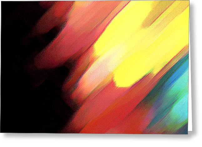 Greeting Card featuring the painting Sivilia 9 Abstract by Donna Corless