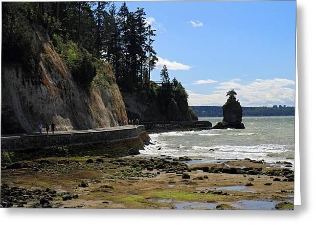 Siwash Rock Stanley Park Vancouver Greeting Card by Pierre Leclerc Photography