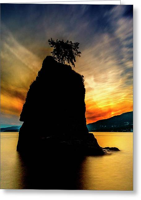 Siwash Sunset Greeting Card
