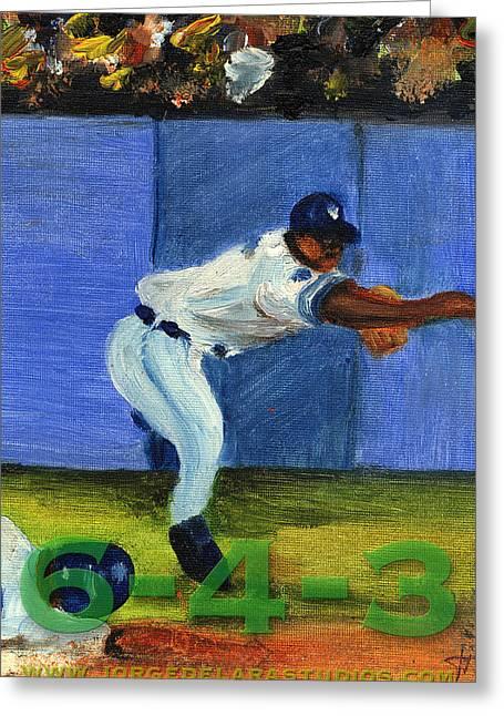 Six-4-three Greeting Card by Jorge Delara