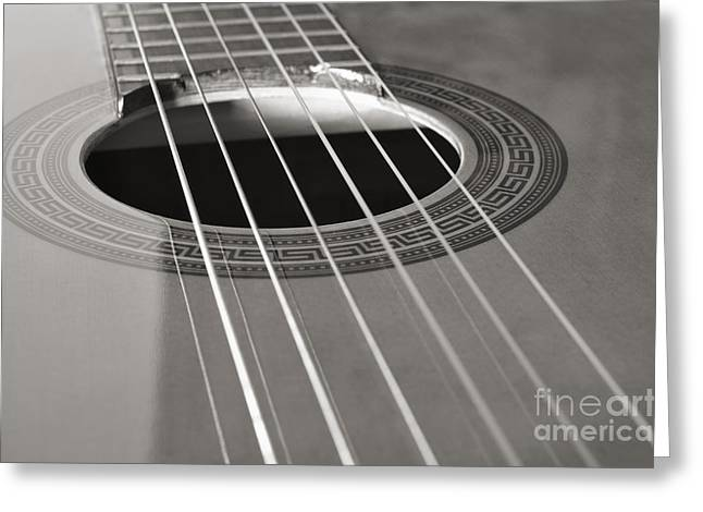 Six Guitar Strings Greeting Card by Angelo DeVal