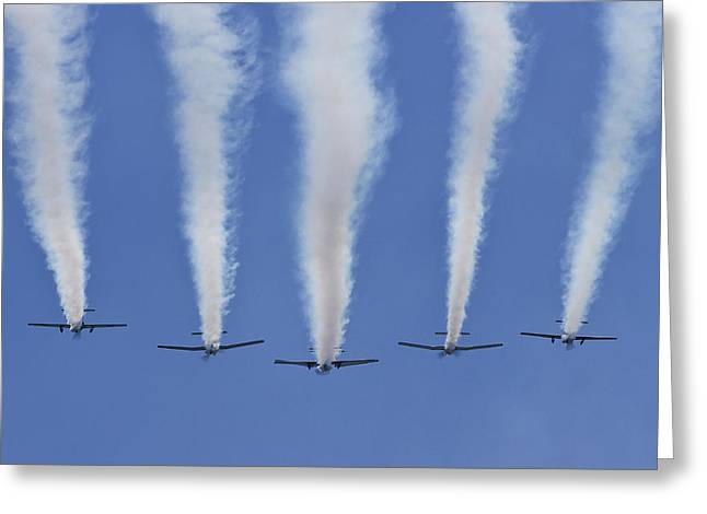 Greeting Card featuring the photograph Six Roolettes In Formation by Miroslava Jurcik