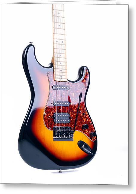 Six String Classic Rock Guitar Greeting Card by Norman Pogson