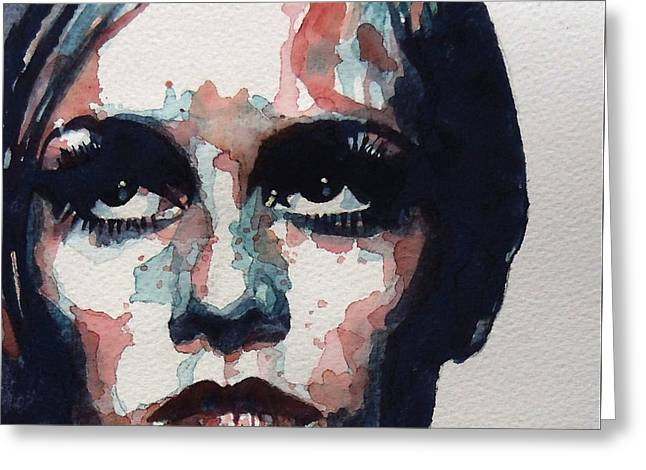 Sixties Sixties Sixties Twiggy Greeting Card by Paul Lovering