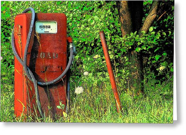 Sixty Six Cents A Gallon Greeting Card by Michael L Kimble