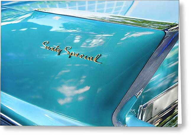 Sixty Special Cadillac Greeting Card by Theresa Tahara