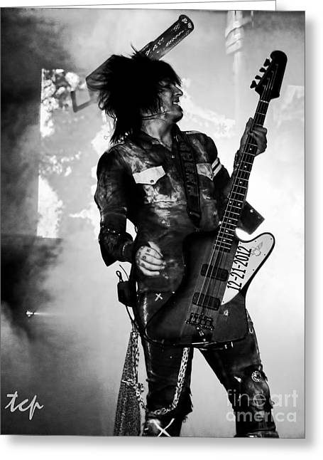 Sixx Greeting Card by Traci Cottingham